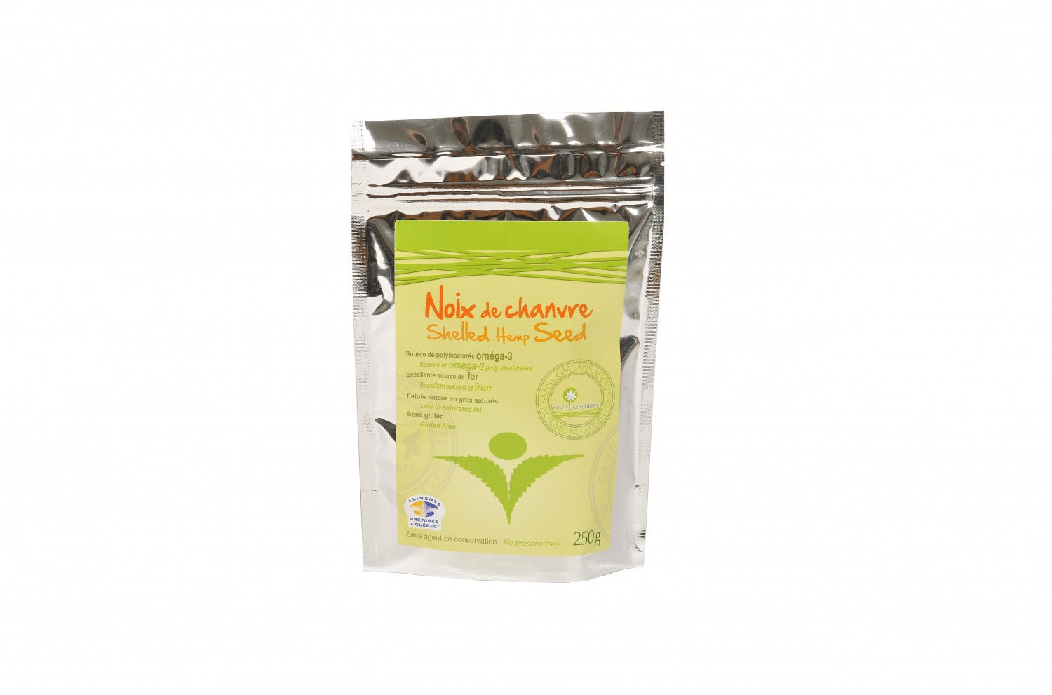 Shelled hemp seed 250 g
