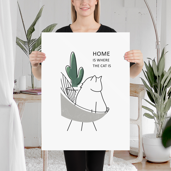 Home is where the cat is ** Poster **
