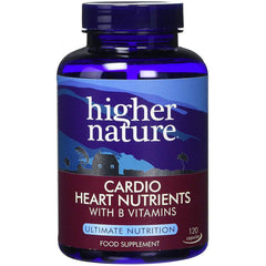 Higher Nature Cardio Heart Nutrients Heart Health Circulation Supplement 120 Capsules