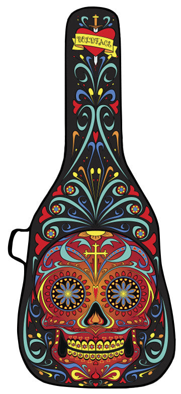Day of the Dead - Black Guitar Bag Face Panel