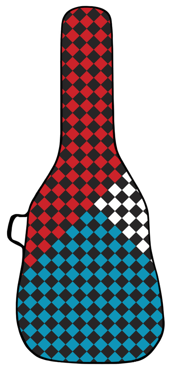 Checkered Flag Guitar Bag Face Panel