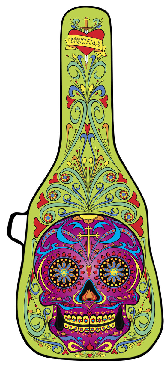 Day of the Dead - Green Guitar Bag<br><font color=red>DISC MAKERS<br>50% OFF!</font>