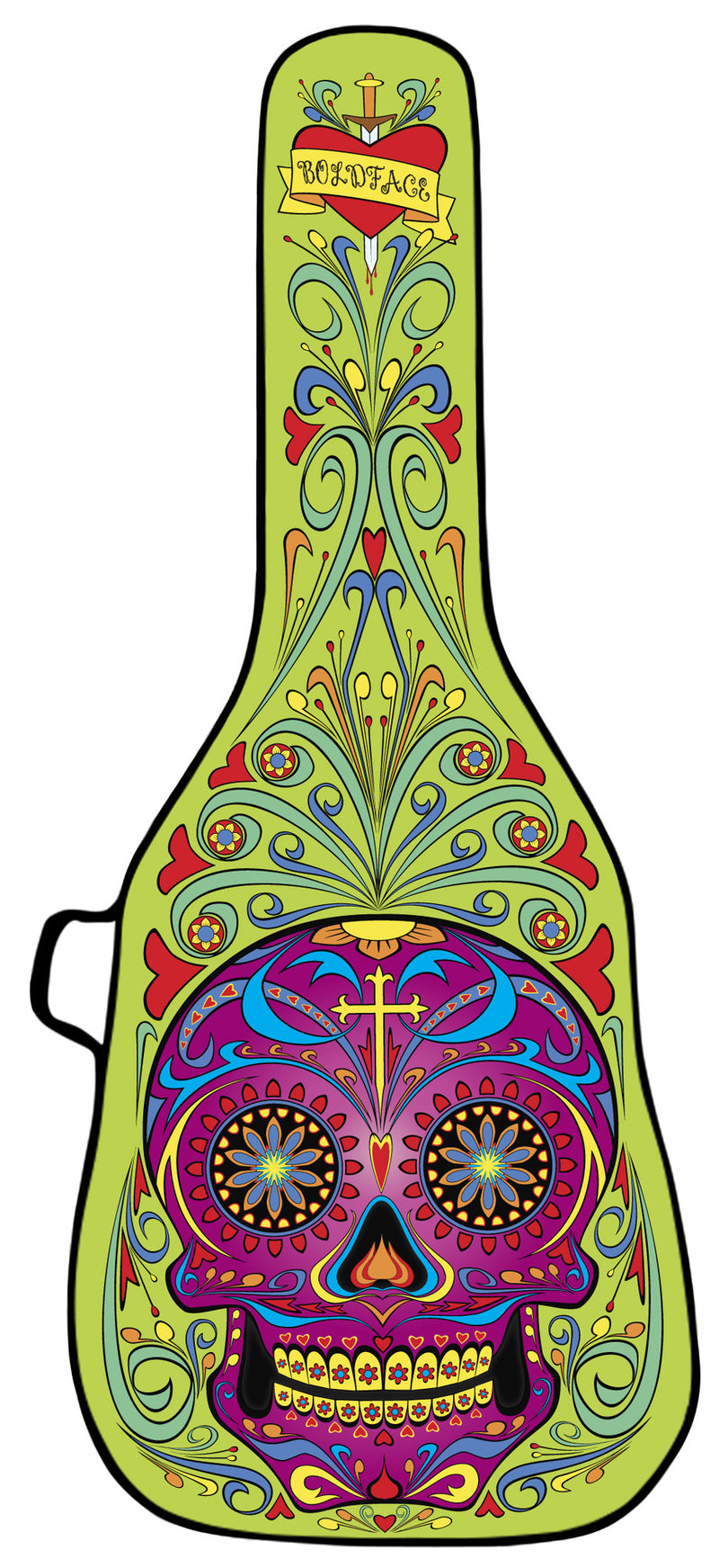 Day of the Dead Green Design Guitar Bag