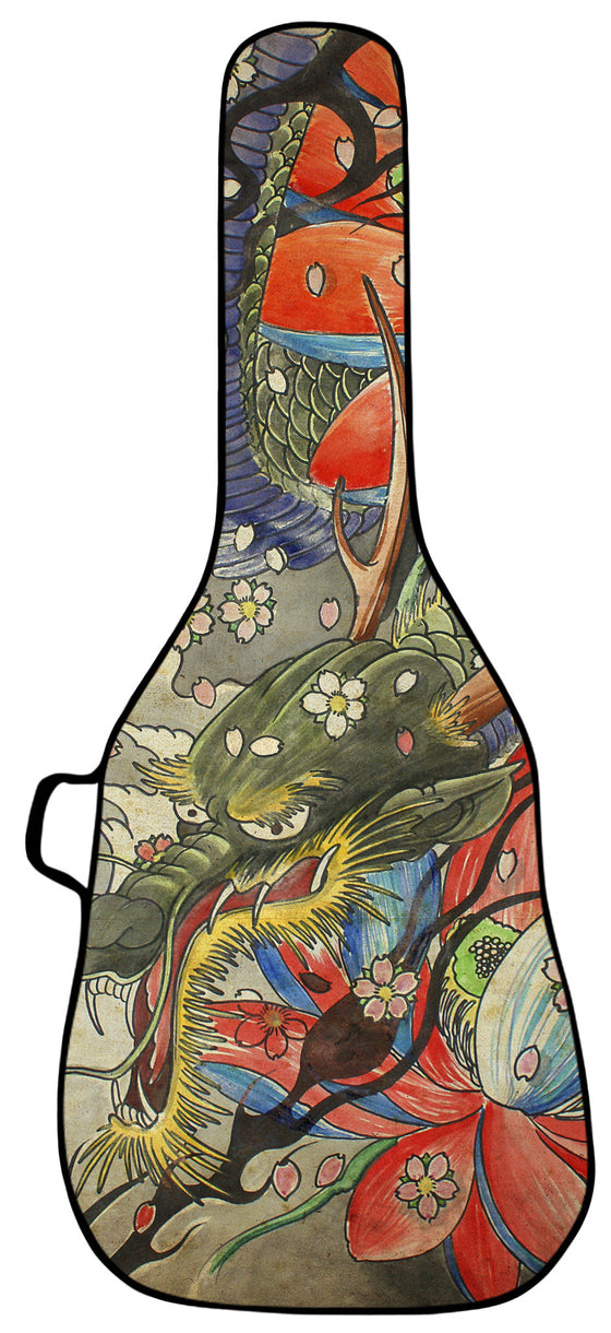 Dragon Tapestry Guitar Bag Face Panel