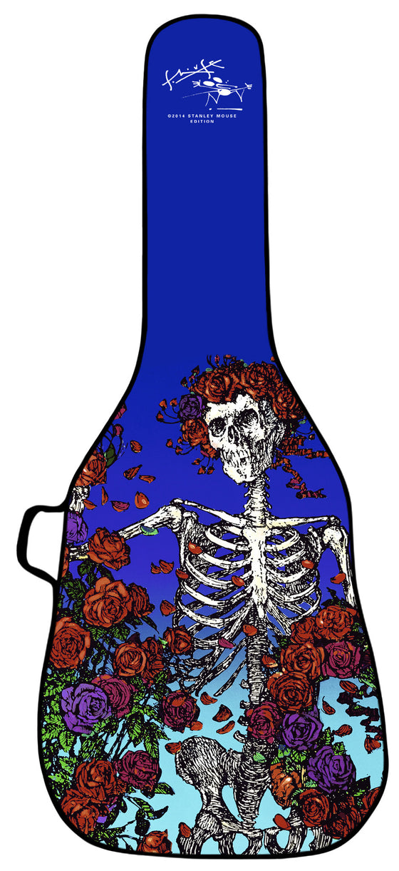 Skeleton and Roses Design Guitar Bag - Stanley Mouse Edition
