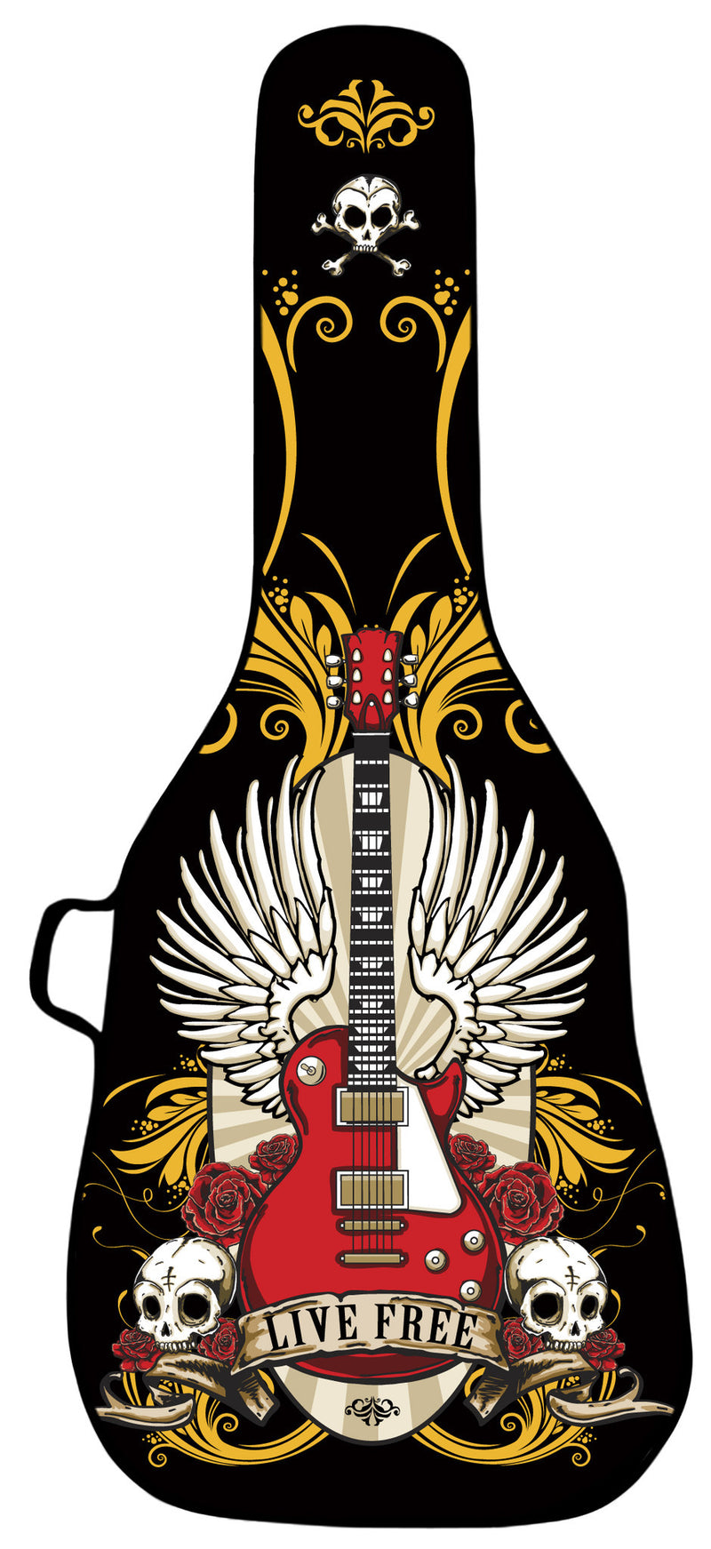 Live Free Design Guitar Gig Bag