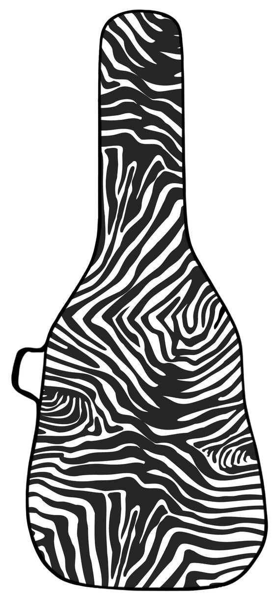 Zebra Guitar Bag Face Panel
