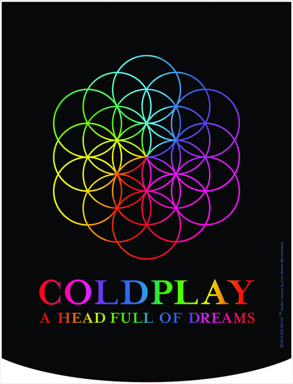 Coldplay Head Full of Dreams Backpack Face Panel