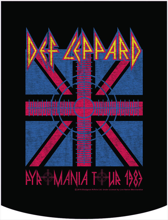 Def Leppard Official Pyromania Backpack Face Panel