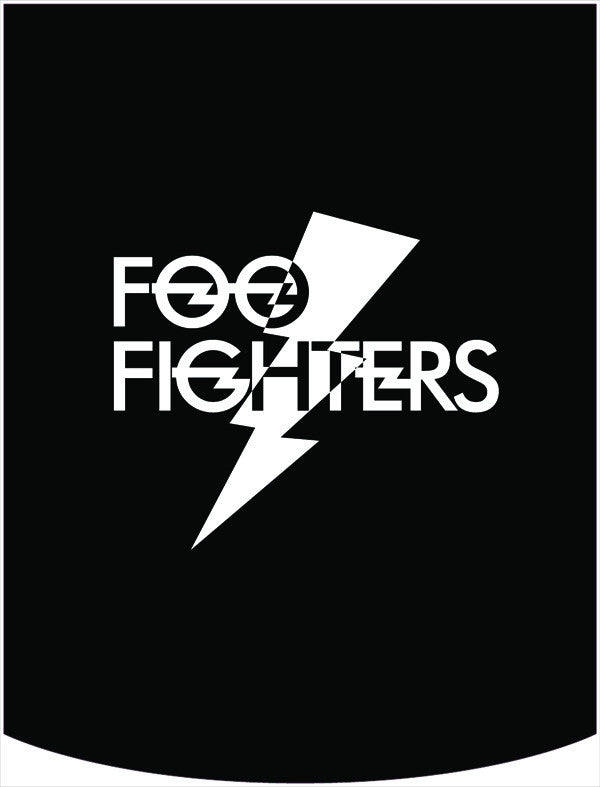 Foo Fighters Lightning Bolt Logo Backpack Face Panel