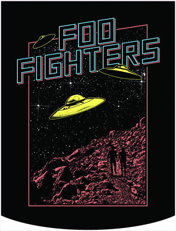 Foo Fighters UFO Tour Backpack Face Panel