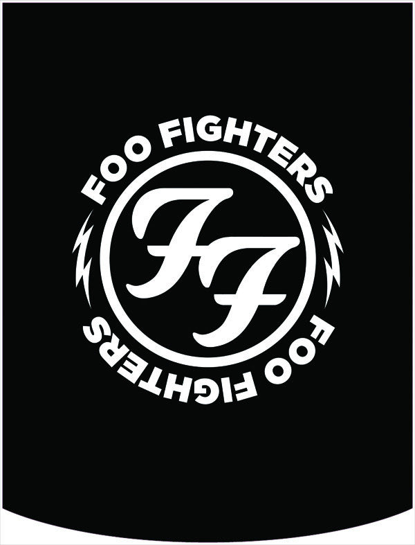 Foo Fighters FF Logo Backpack Face Panel