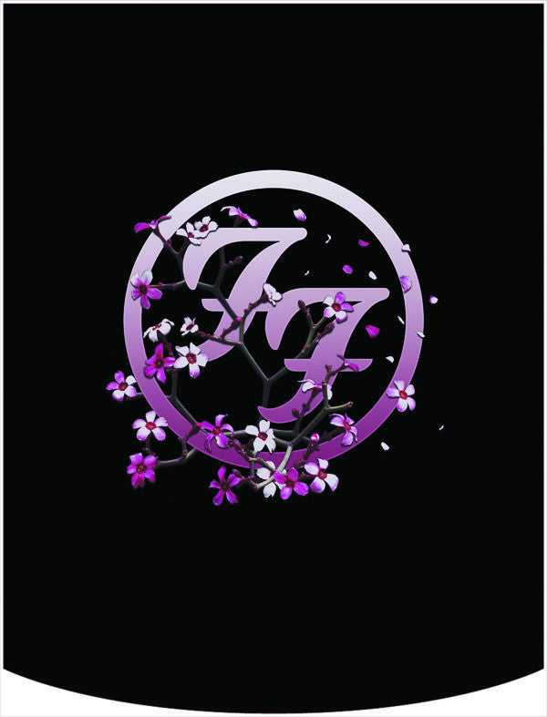 Foo Fighters Flowers Logo Backpack Face Panel