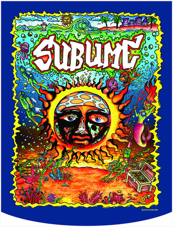 Sublime Underwater Sun Logo Backpack Face Panel