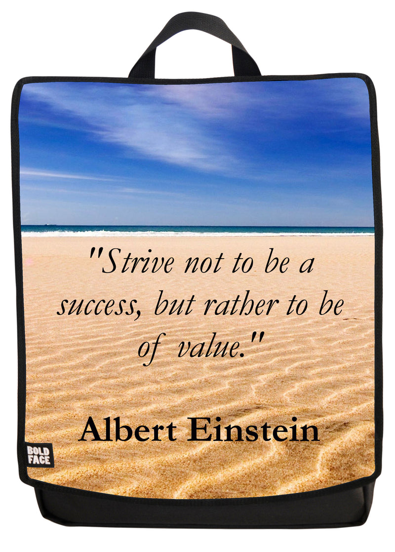 Strive Not To Be A Success Backpack