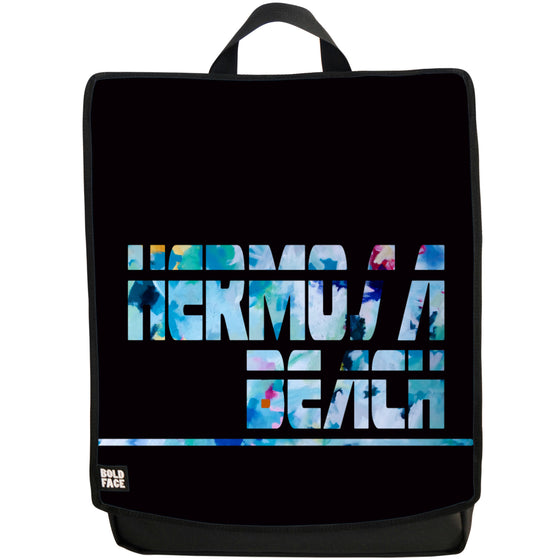 Hermosa Beach Agua (Black) Backpack Face Panel