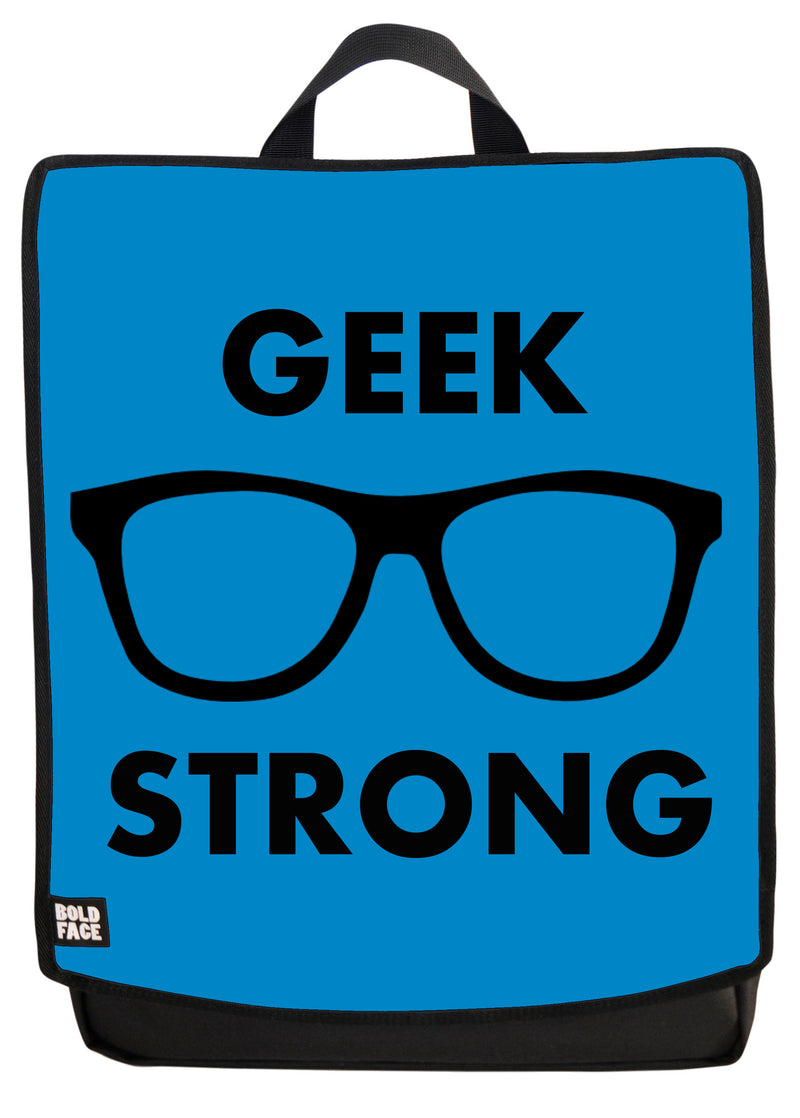 Geek Strong (Blue) Backpack Face Panel