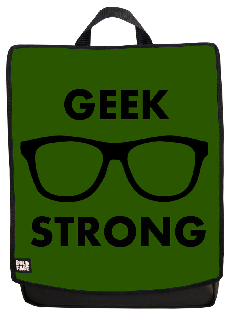 Geek Strong (Green) Backpack Face Panel