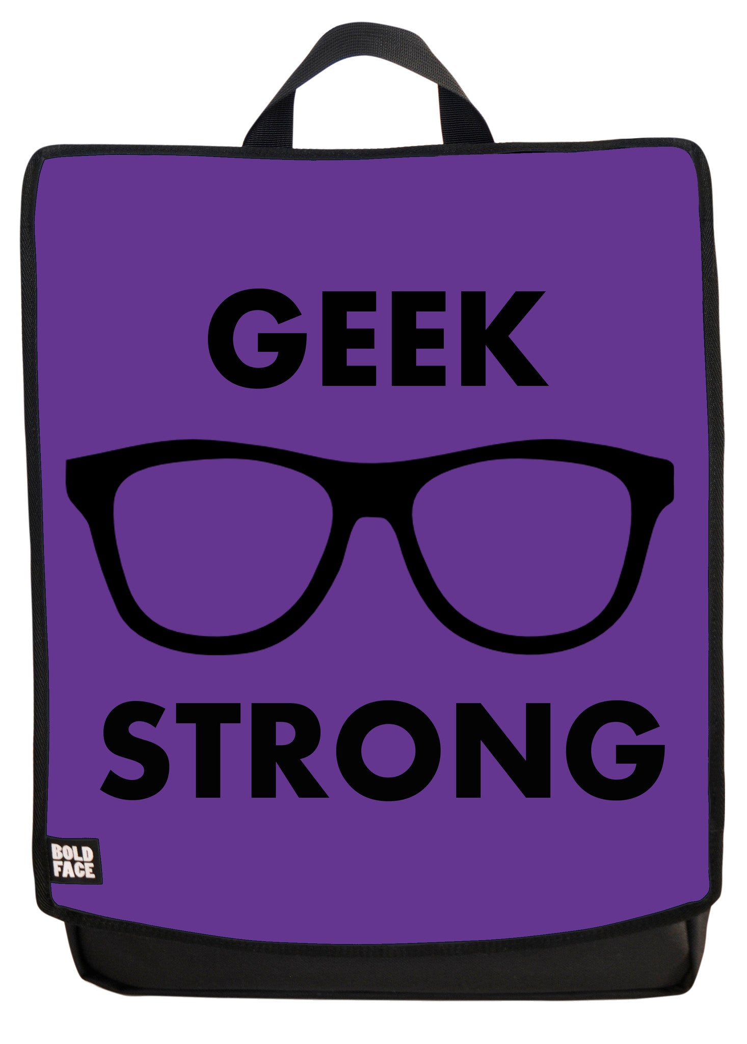 Geek Strong (Purple) Backpack Face Panel