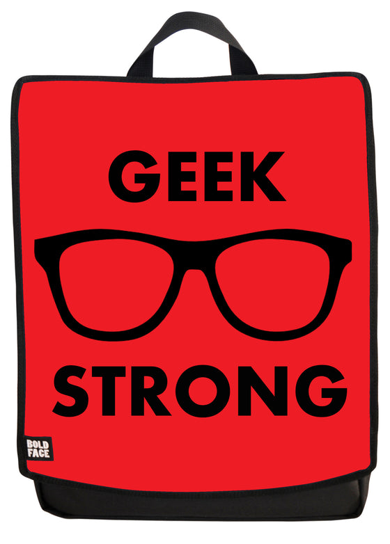 Geek Strong (Red) Backpack Face Panel