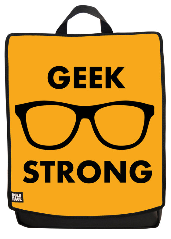 Geek Strong (Yellow) Backpack Face Panel