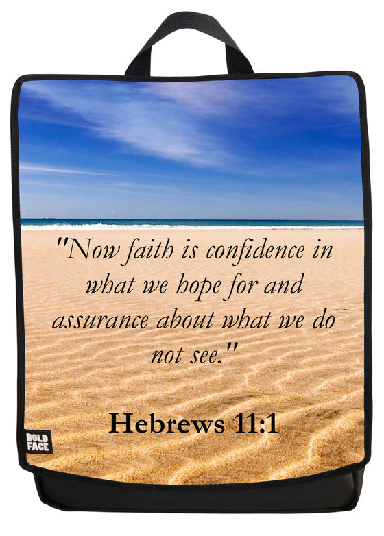 Hebrews 11:1 Backpack Face Panel
