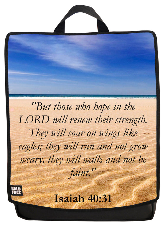 Isaiah 40:31 Backpack Face Panel