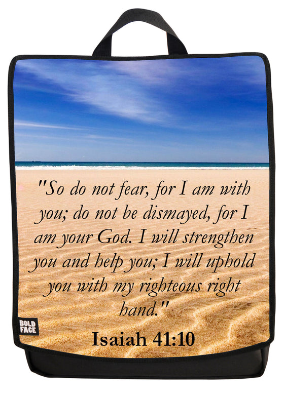 Isaiah 41:10 Backpack Face Panel