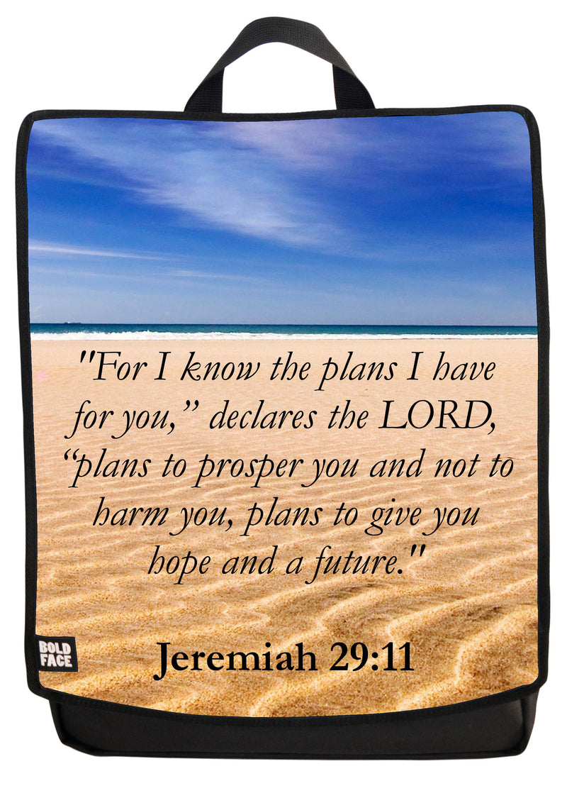 Jeremiah 29:11 Backpack Face Panel