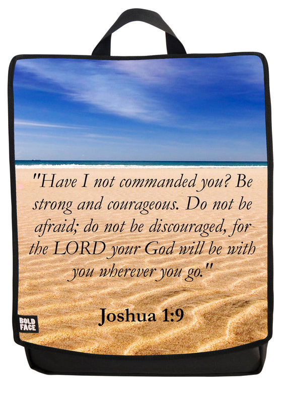 Joshua 1:9 Backpack Face Panel
