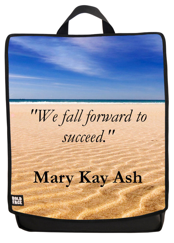 We Fall Forward To Succeed Backpack