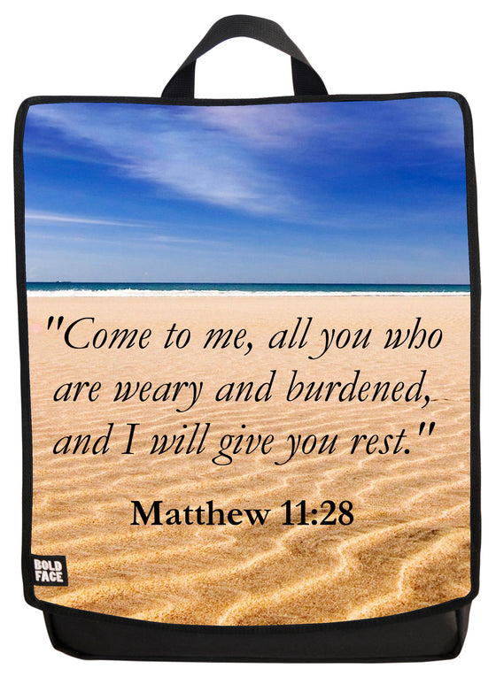 Matthew 11:28 Backpack Face Panel