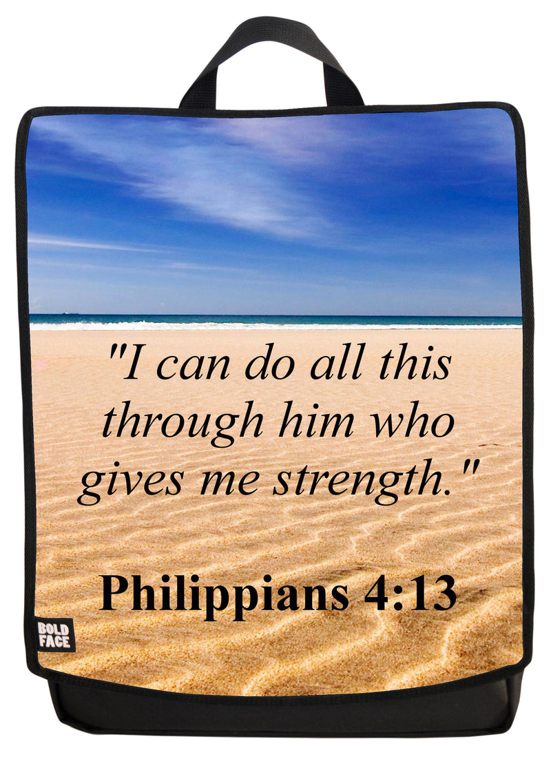 Philippians 4:13 Backpack Face Panel