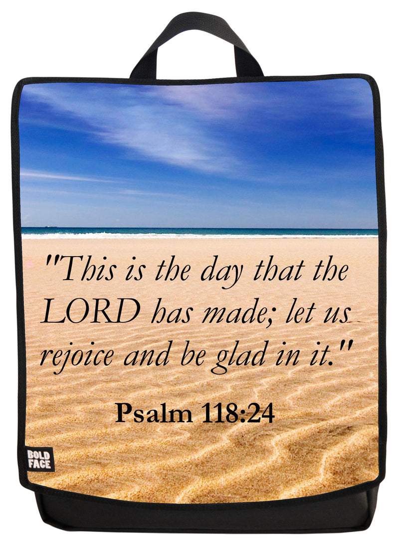 Psalm 118:24 Backpack Face Panel