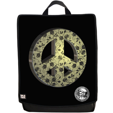 "Peace Angels ""Peace Flowers"" (Gold) Backpack"