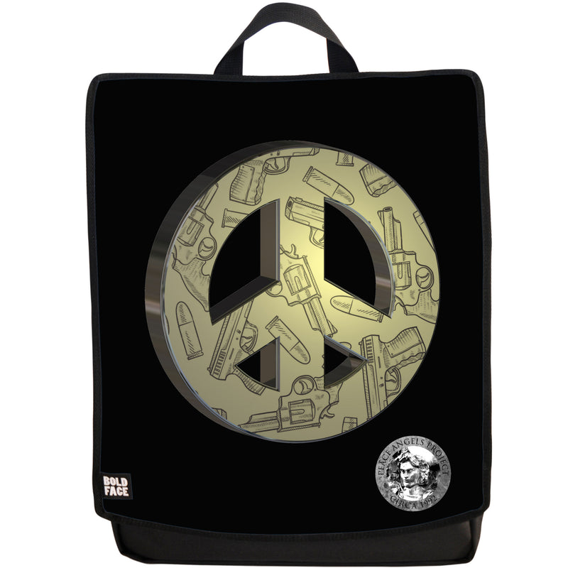 "Peace Angels ""Peace Not Guns"" (Gold) Backpack"