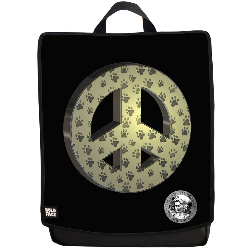 "Peace Angels ""Peace Paws"" (Gold) Backpack"