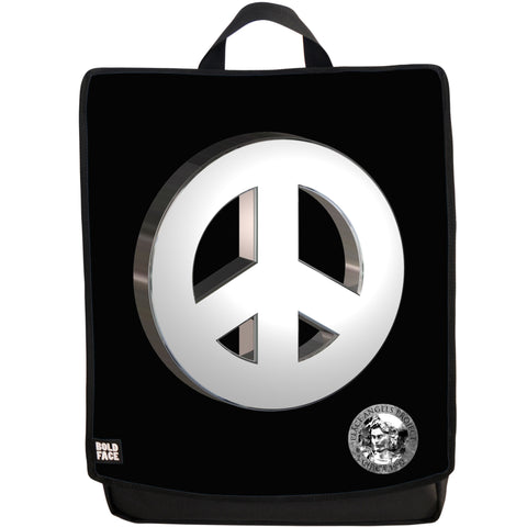 Peace Angels Silver Two Backpack