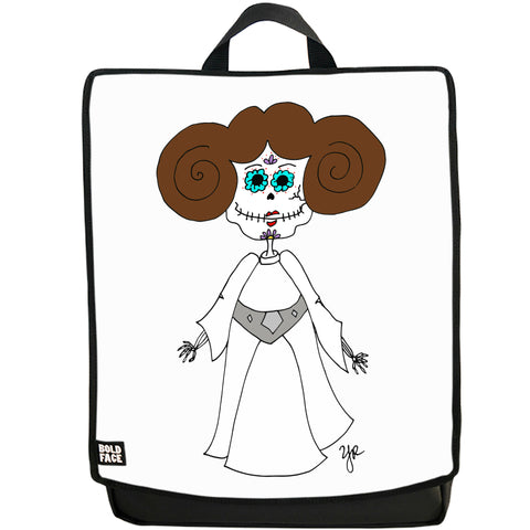Princess Leia Day of the Dead Backpack (White)