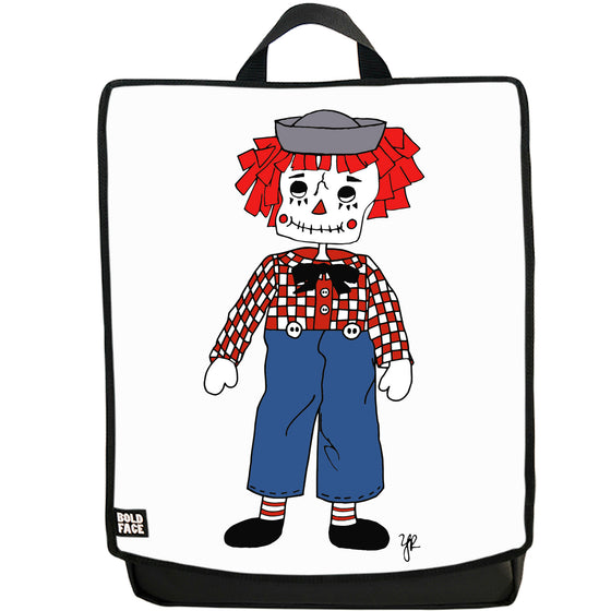 Raggedy Andy Day of the Dead Backpack (White)