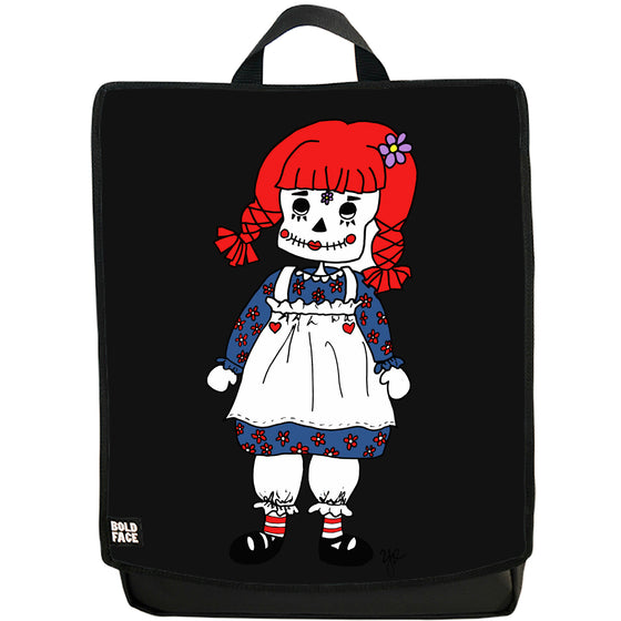 Raggedy Ann Day of the Dead Backpack (Black)