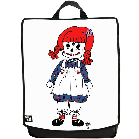 Raggedy Ann Day of the Dead Backpack (White)