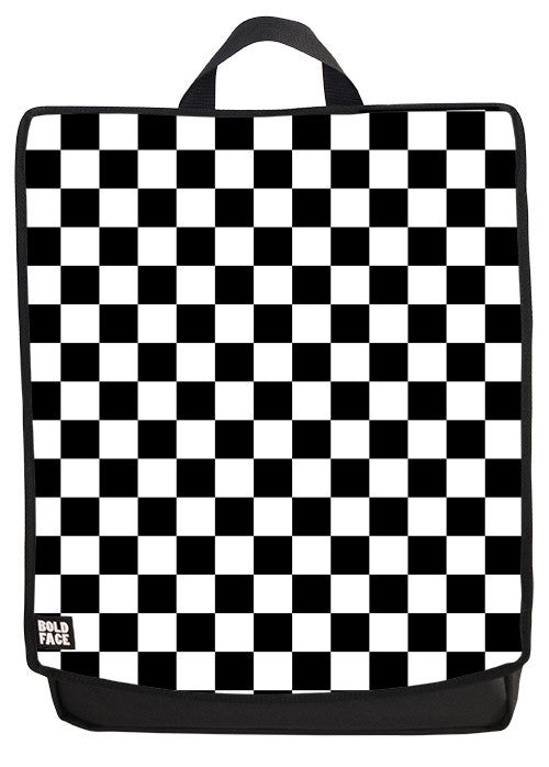 Black and White Checkered Backpack #2 Face Panel
