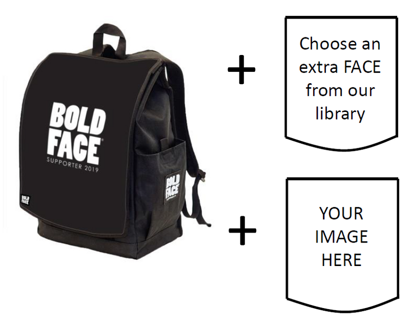 BOLDFACE Backpack w/ THREE FACES (Gene)