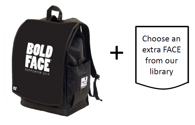 BOLDFACE Backpack w/ TWO FACES