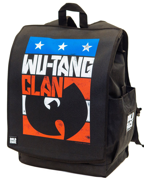 Wu-Tang Clan Official Red White Blue Logo Backpack