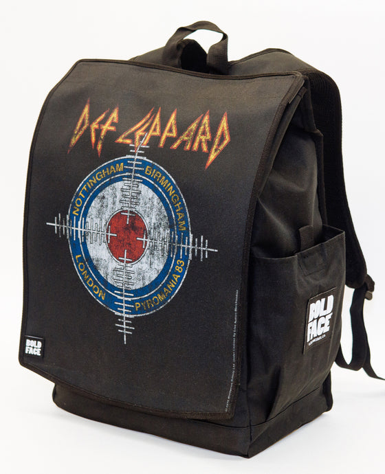 Def Leppard Official Pyromania Crosshairs Backpack