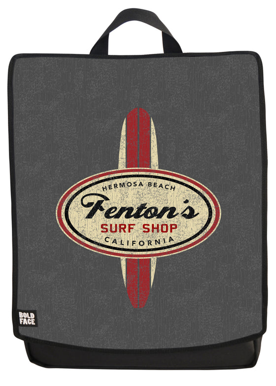 Fenton's Surf Shop Backpack Face Panel