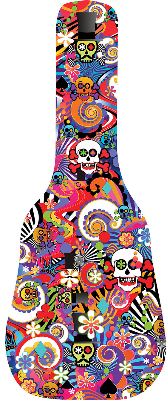 Pop Art Sugar Skull Guitar Bag