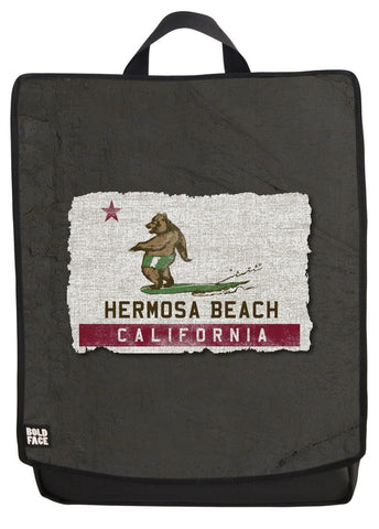 California Surfing Bear - Hermosa  Beach Backpack